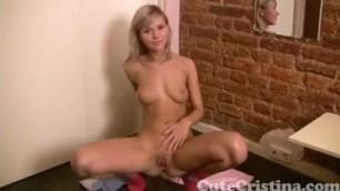 Cute Cristina showing off her beautiful teen body