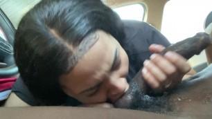 Some good sloppy nut swallowing car head