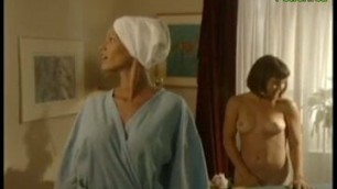 Nun goes in for a nude lesbian massage (short)