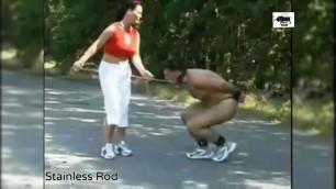 Strict Mistress Dominates her Slaves Harder