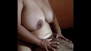 Desi BBW cowgirl position