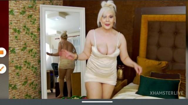 Sexy blonde mature full nude pussy masturbation dildo