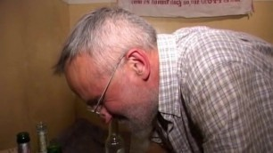 Grandpa farts loudly while getting asslicked - she loves it!