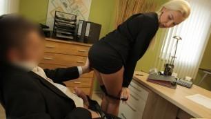 LOAN4K. Needing a loan makes the businesswoman hook up