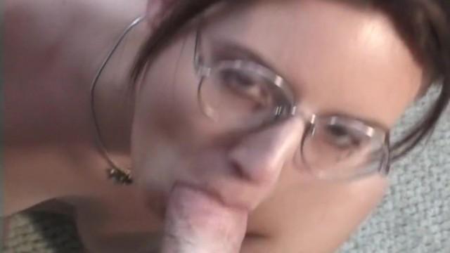 Nerdy Casey Klein sucks thick cock