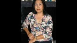 Asian granny sucking cock